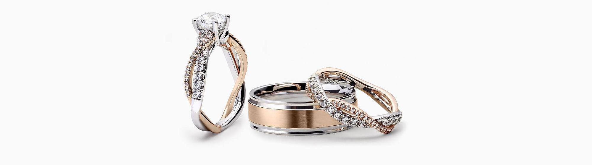 Gabriel&Co Verragio Diamond Engagement Gold Ring Earring Bracelet Necklaces Jewellery Surrey Canada